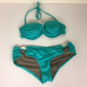 Victoria's Secret Teal Green Two Piece Swimsuit